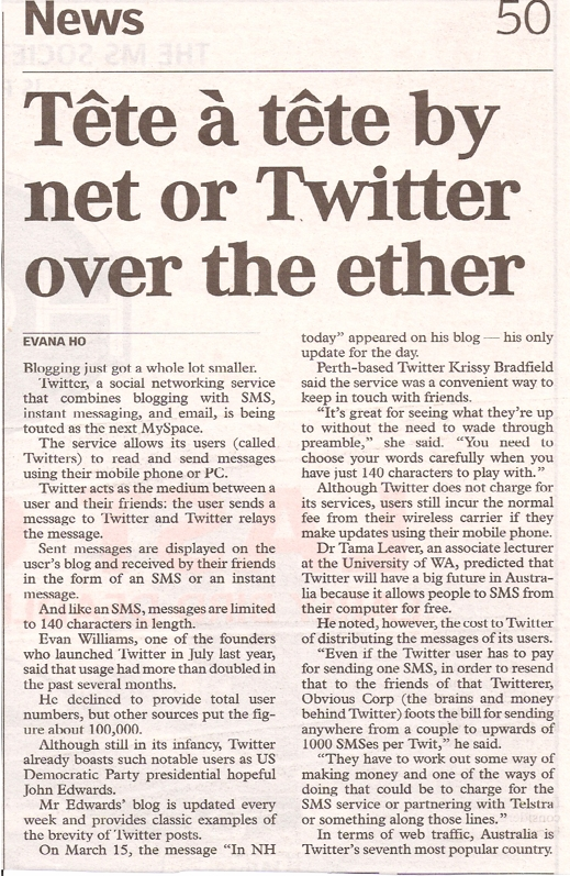 Twitter article
